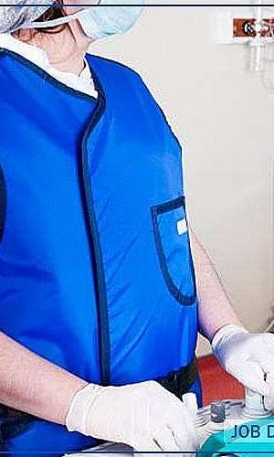 Avental de borracha plumblífera
