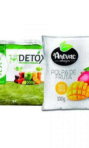 Embalagem para polpa de fruta congelada