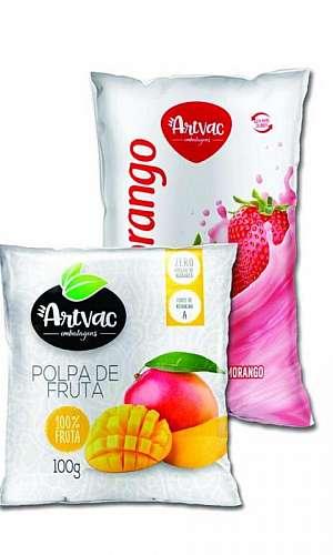 Embalagens personalizadas para polpa de frutas