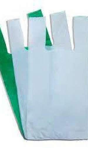 Sacolas plásticas lisas